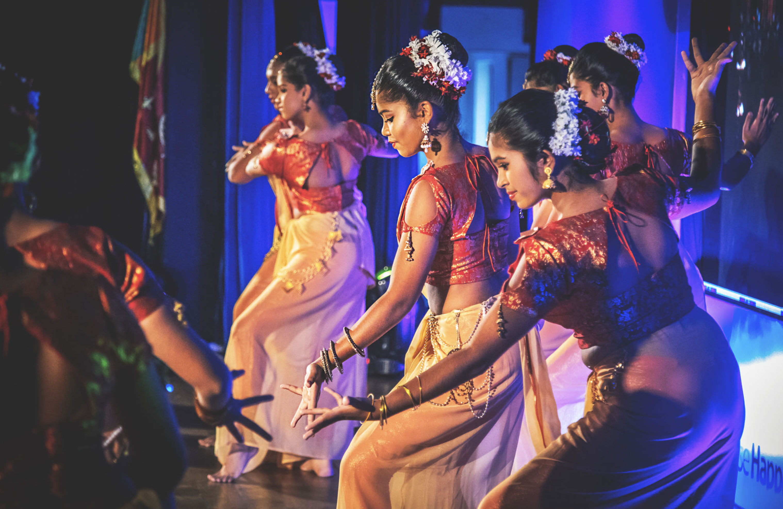 High School dancers, Kandy, Sri Lanka.